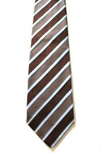 ERMENEGILDO-ZEGNA-Krawatte-Tie-braun-gestreift-Seide-Luxus-J4-99
