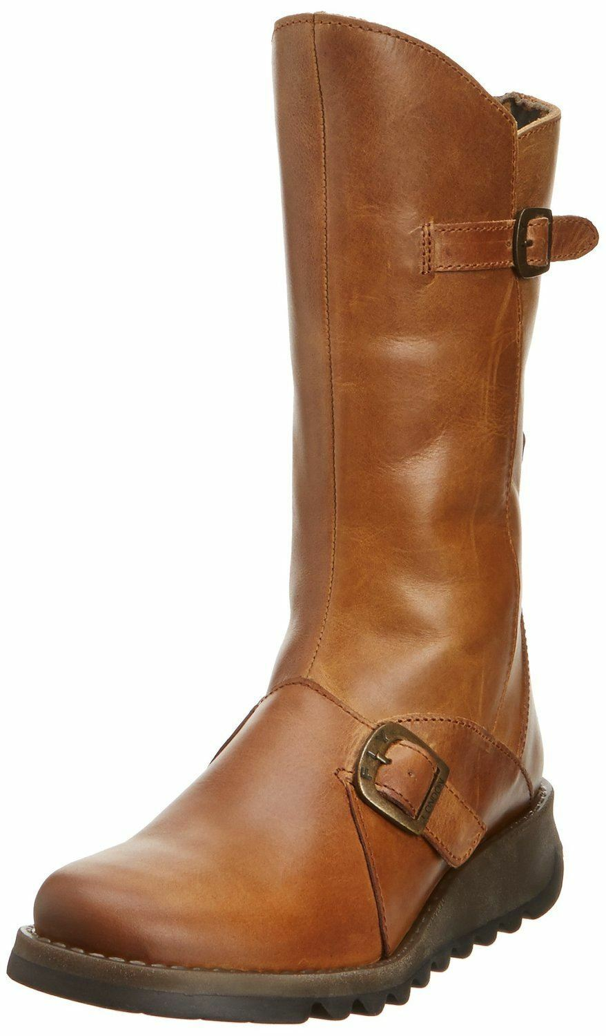 Fly london Mes 2 Camel Leather damen Mid Calf Stiefel