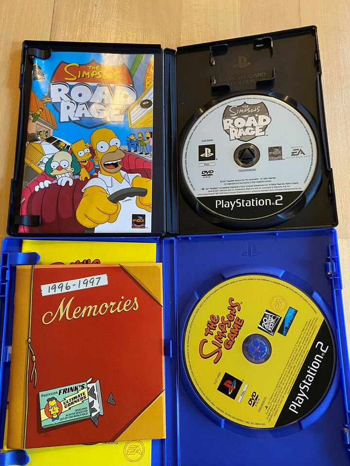 The Simpsons game og The Simpsons Road Rage, PS2, action
