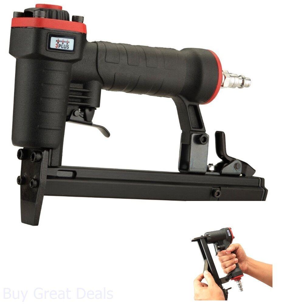 HT5014SP buy_great_deals Air Pneumatic Staplers T50 Staple Gun Upholstery Wire Framing Fine Stapler Tool