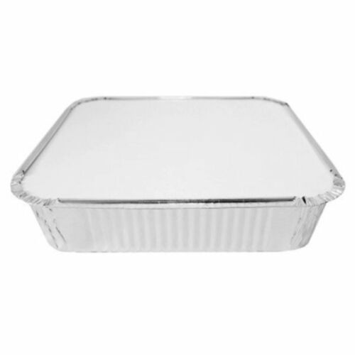 """LIDS Trays Takeaway Baking 9x9x2/"""" 400 x LARGE Aluminium Foil Containers No.9"""
