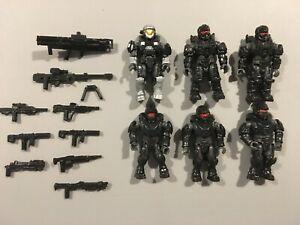 Mega-Construx-HALO-UNSC-Black-Armor-Spartan-lot-6-figures-PRICE-DROP-09-27