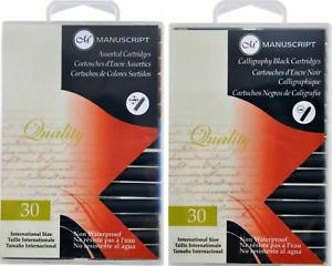 Manuscript-Fountain-Pen-Ink-Cartridges-Pack-of-30-Assorted-Black