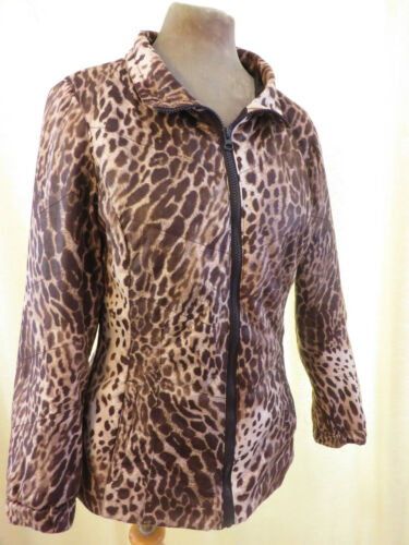 Small Size Zip Padded Jacket Coat Leopard amp; Print Up Front Mac Hawke Quilt Co wqY7BO1ZRx