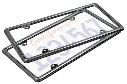 2pc OxGord Metal License Plate Frame HD Stainless Steel Chrome Car SUV Van Truck