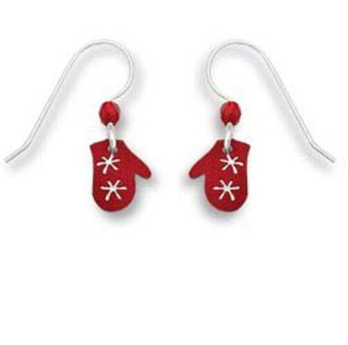 Sienna-Sky-Jewelry-Red-MITTENS-Snowflake-EARRINGS-0827-Sterling-Christmas