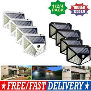 100-LED-Solar-Power-PIR-Motion-Sensor-Security-Lamps-Outdoor-Garden-Wall-Lights