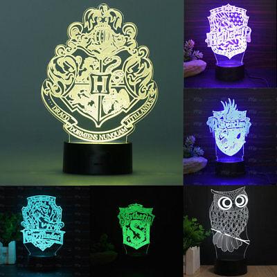 Harry Potter Gryffindor 3D LED Leselampe Tischlampe Nachtlicht Nachttischlampe
