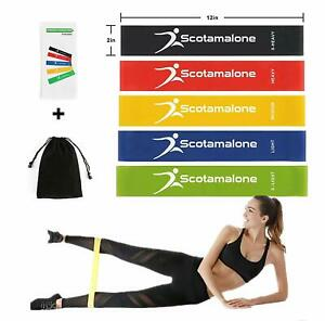 5-Sets-Resistance-Loop-Bands-Yoga-Exercise-Gym-Workout-Butt-Glutes-Pull-Up-Band