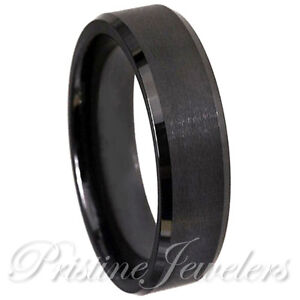 womens tungsten wedding rings 6mm black tungsten wedding band mens womens jewelry 1468