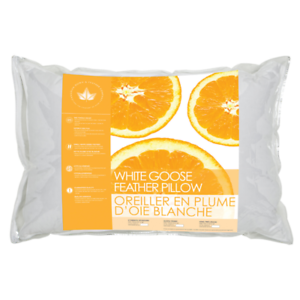 Canadian-Down-amp-Feather-Co-White-Goose-Feather-Pillow-100-Cotton