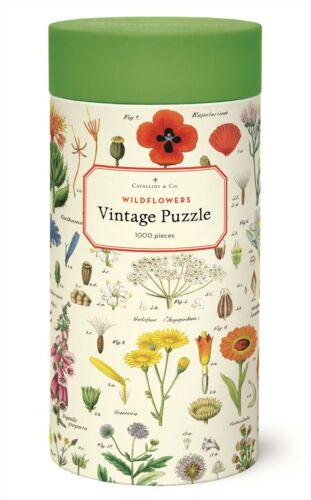 Victorian Trading Co Cavallini /& Co./'s Wildflowers 1000 Piece Puzzle