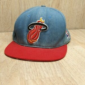 Mitchell & Ness Miami Heat NBA Basketball Denim Hat Adjustable Snapback