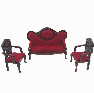 1:12 Dollhouse Miniature Furniture Room Sofa Armchair Cushion Pillow Black X2 \