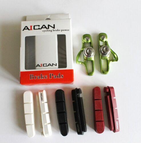 Aican Ultralight Road Bike Bicycle brake pads shoes catridge fit Shimano Green