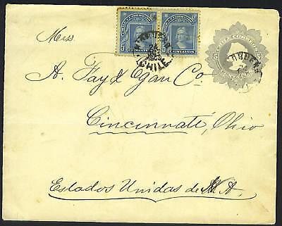 Süd- & Mittelamerika Ohio Unter Der Voraussetzung Chile 1900 Frankiert Postal Karte Zu Cincinnati