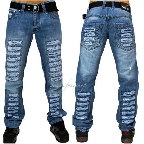 Peviani bar uomo jeans, il tempo è denaro G DENIM, Straight strappato designer star