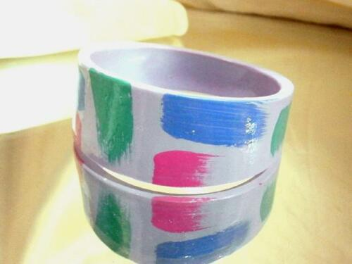 Very Colorful Vintage 1970's Plastic Bangle Bracel