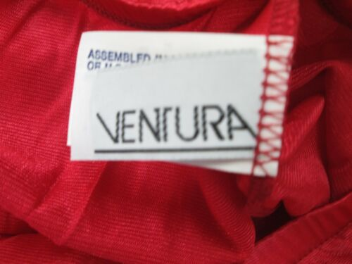 "Ventura Plus Size Nylon Half Slip 28/"" Long 3X RED  #4743 NWT"