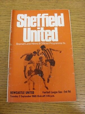 02/09/1969 Sheffield United v Newcastle United (folded ...