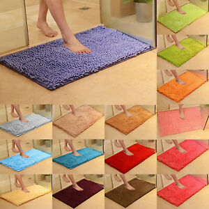Long-Microfiber-Shaggy-Non-Slip-Absorbent-Bath-Mat-Bathroom-Shower-Rugs-Carpet