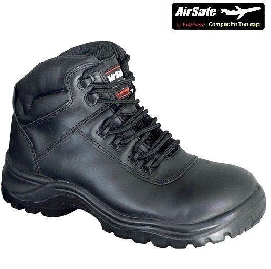 MENS AIRSAFE LIGHTWEIGHT LEATHER NON METALLIC SAFETY WORK TACTICAL TACTICAL TACTICAL POLICE Stiefel 7ce7c6