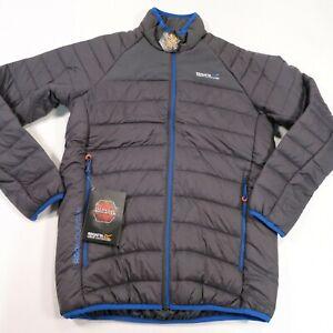 120-Men-039-s-Regatta-Great-Outdoors-Halton-II-Jacket-Size-Small-Grey-Blue-NWT