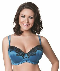 91b5f0f7f4db2 Parfait Danielle 8501 Peacock Blue Lightly Padded UW Contour Bra NWT ...