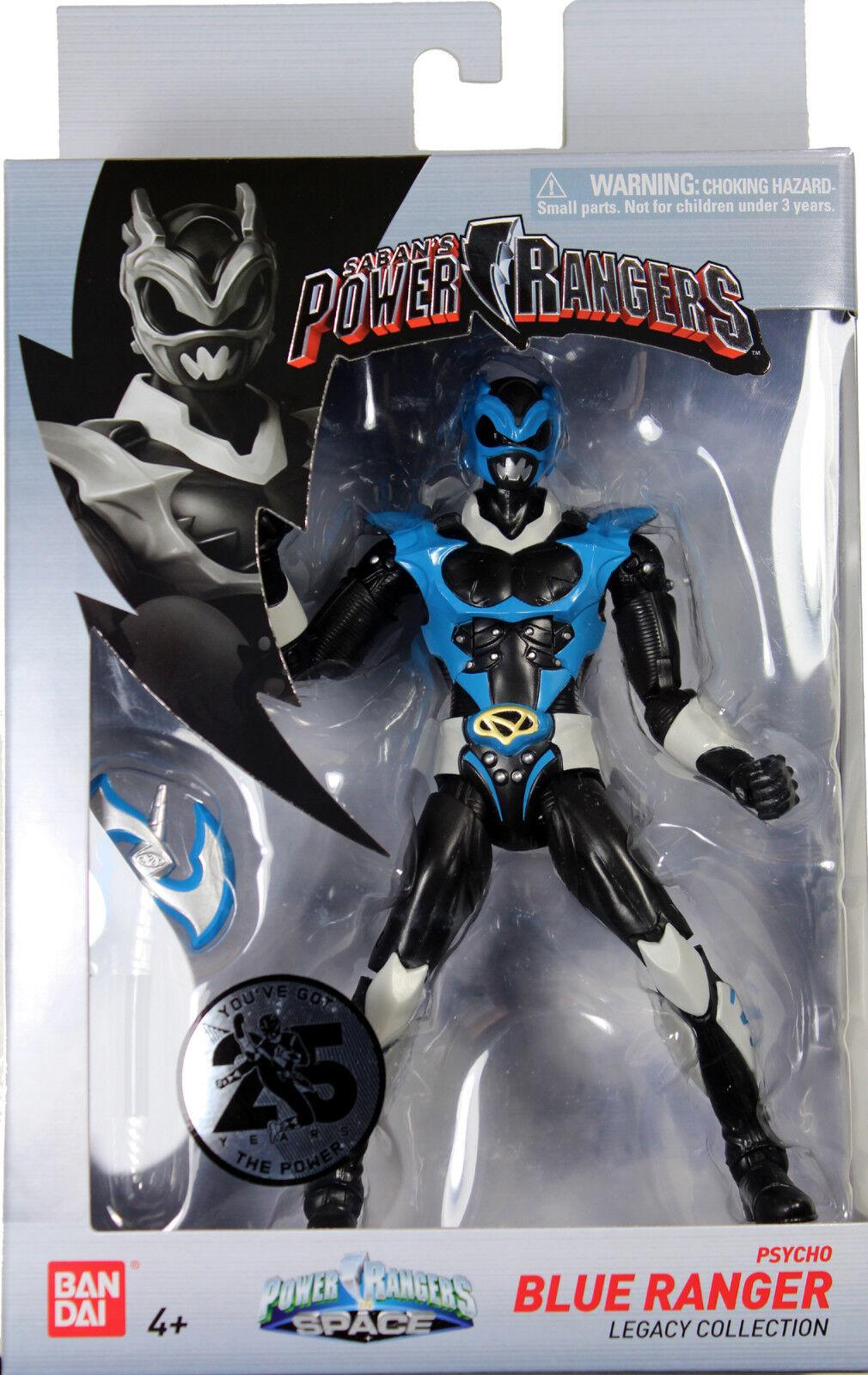 Power Rangers Space  PSYCHO blueE RANGER LEGACY ACTION FIGURE  MMPR Morphin