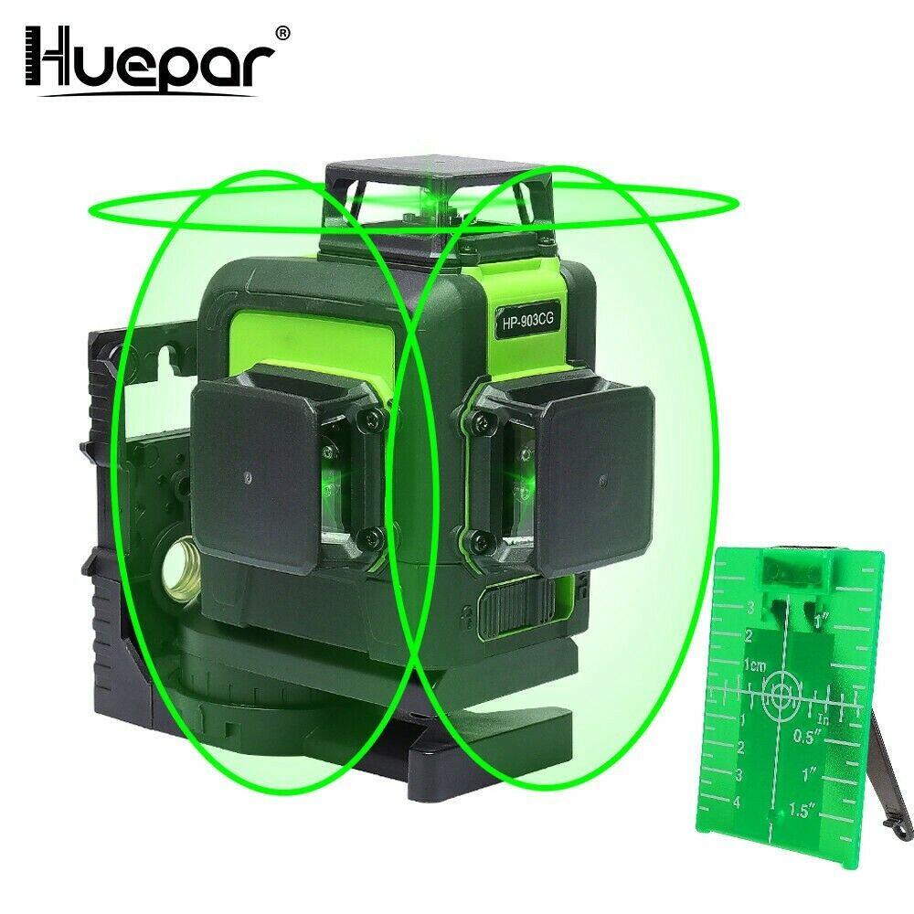 Nivel laser Grün profesional Huepar 903CG 360 3D