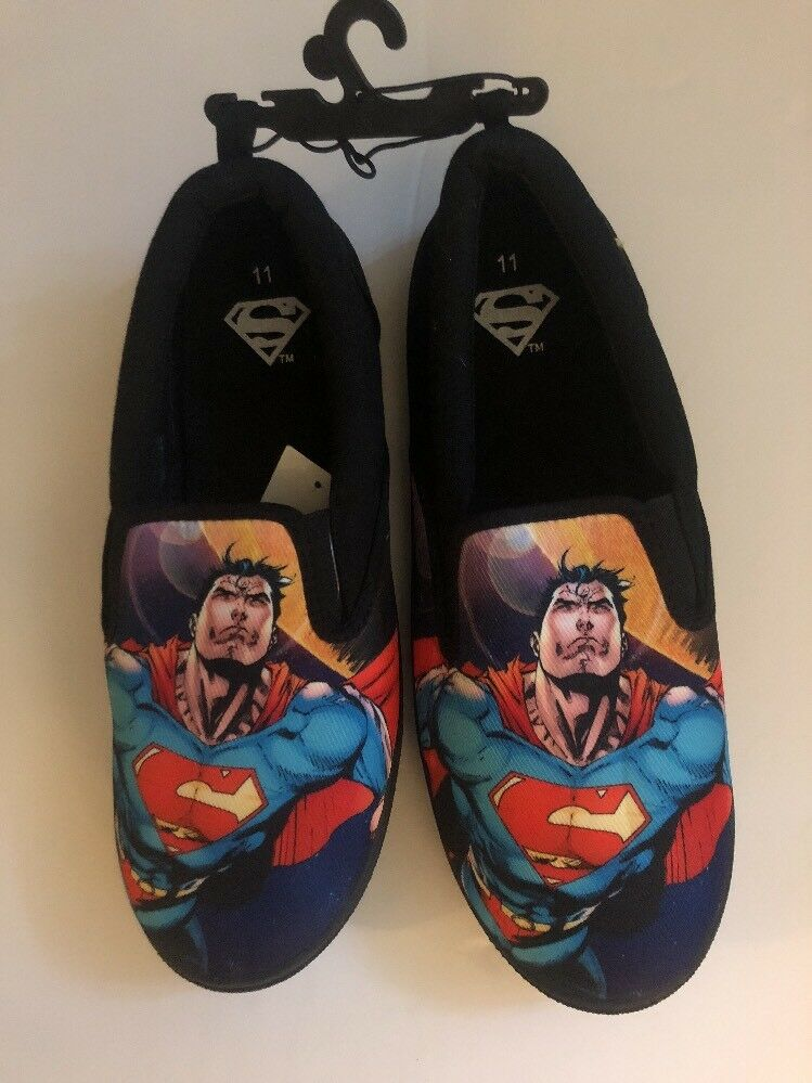 Superman Canvas Size Sneakers Slip-On Shoes Size Canvas 11 BRAND NEW 2e950a