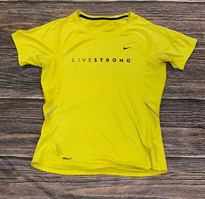 NIKE Womens Long Sleeve LIVESTRONG Logo Dri FIT TEE SHIRT