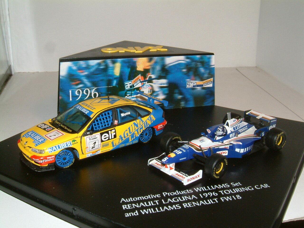 Conjunto de 1 43 Vitesse Onyx Williams, fórmula 1 FW18 y 1996 Renault Laguna Btcc