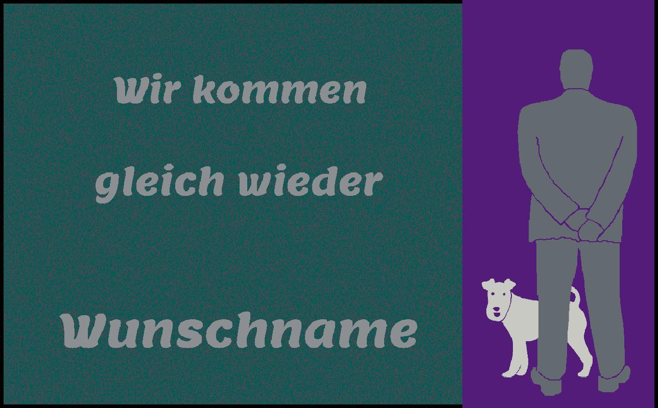 Fußmatte mit Namen Napfunterlage Hundematte    120x75 cm  Design 37180232  | Angemessene Lieferung und pünktliche Lieferung  73aa0f