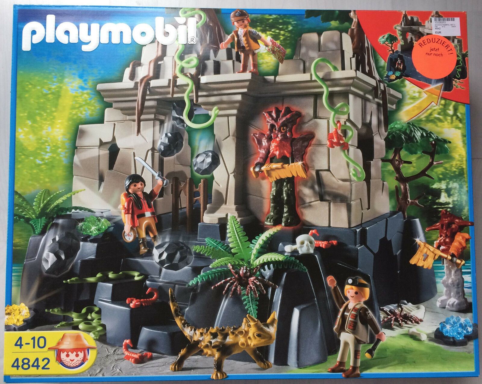 Playmobil - Schatztempel mit Wächtern - Wildnis - Abenteuer - Nr. 4842