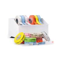 Metal Medication Label Tape Dispenser Holds 8 Rolls 1 Ea