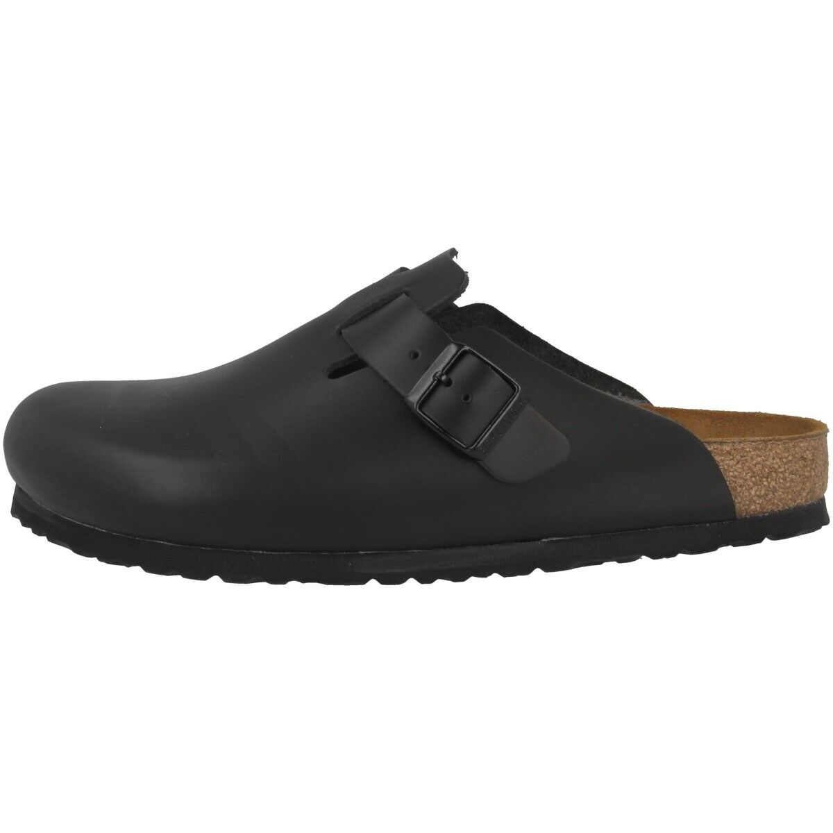 Birkenstock Boston Glattleder Clogs Schuhe black 060191 Pantoletten Weite normal