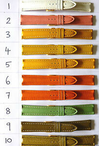 20mm-FLEURUS-HAND-MADE-GENUINE-CALF-LEATHER-PADDED-WATCH-BAND-STRAP-COLOURS