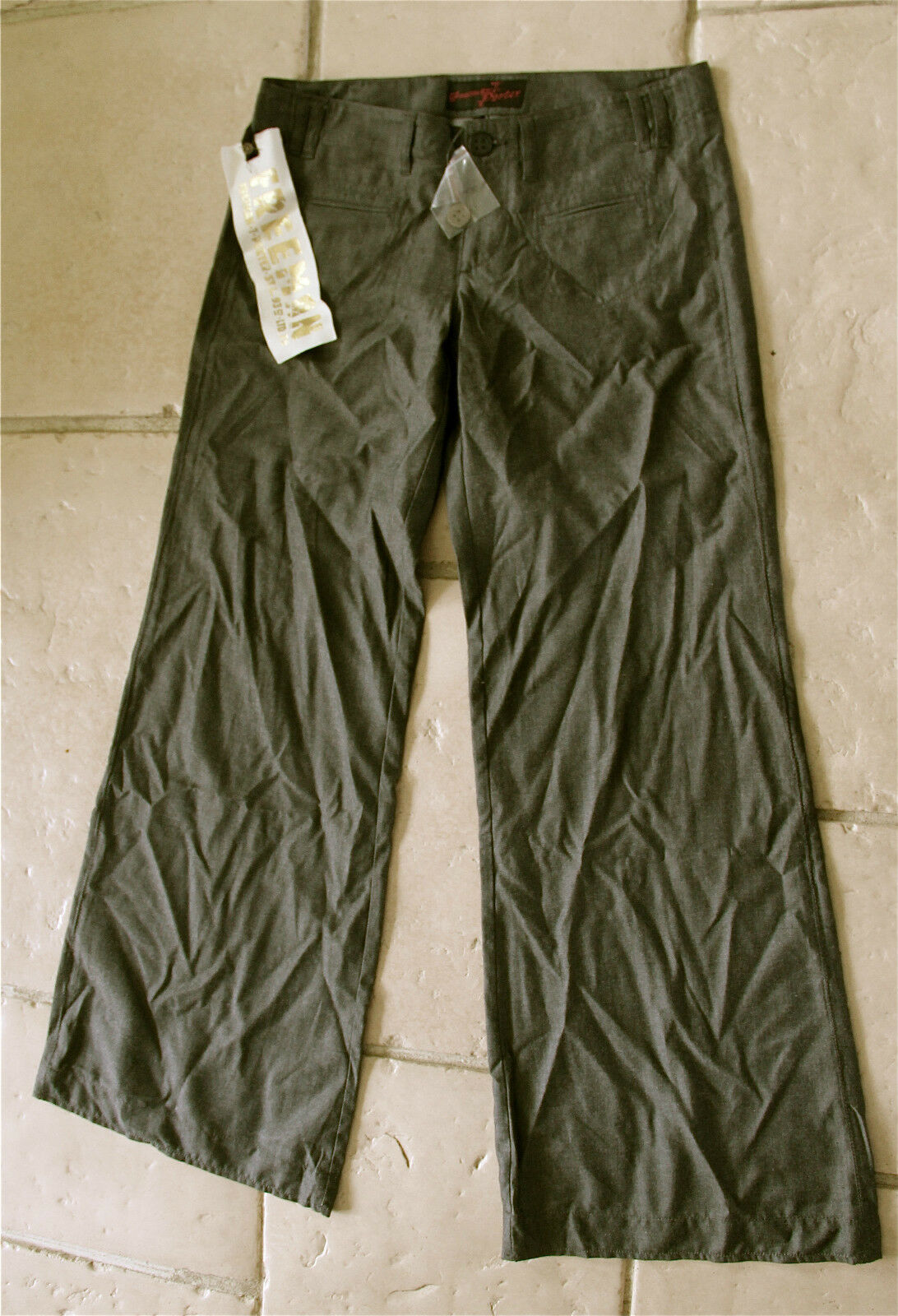 Pantalon size basse large FREEMAN T PORTER jama size 30 (40) NEUF ÉTIQUETTE