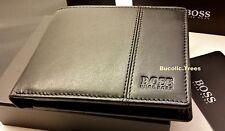 "Brand New Designer Hugo boss portafoglio ""caenestir' 50222660 Bifold nero regalo inscatolato"