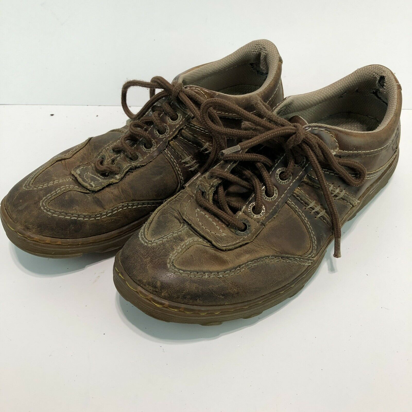 Dr Martens Kurt Oxford Sneakers Mens Size 7 Womens 8 Brown Leather Shoes SH8