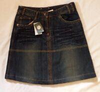 Mexx Jeans Denim Girls Skirt Size Eu 176 -30 Waist W/ Adjustable Waist