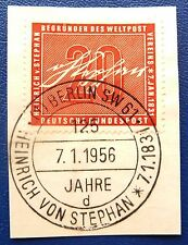 Bund MiNr. 227 Heinrich von Stephan 1956 seltener Ersttags-Sonderstempel Berlin