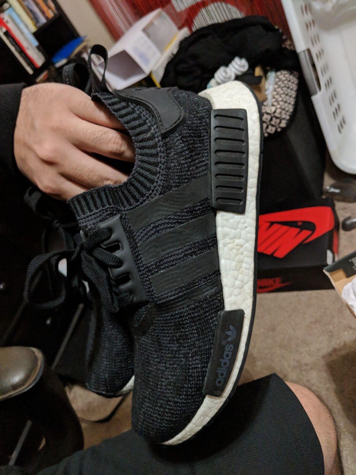 Adidas nmd r1 pk inverno lana dimensioni leggermente indossato indossato indossato 9 48f63a