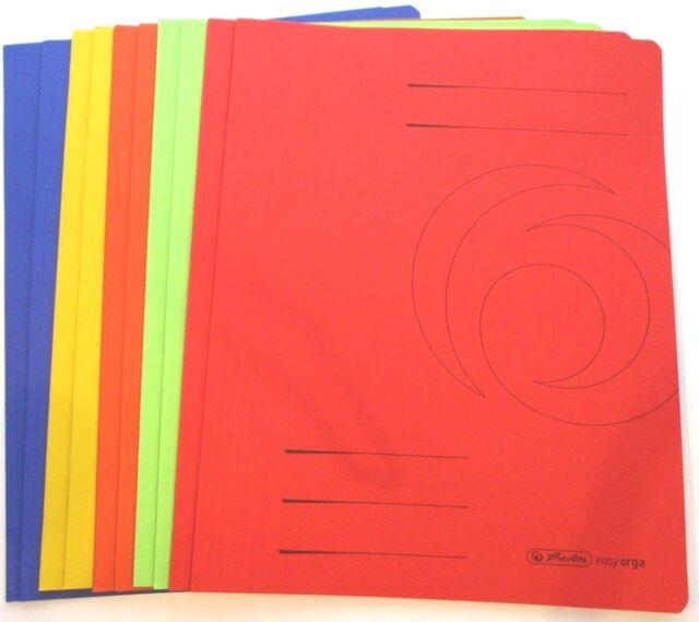 10 Herlitz Manila Karton Schnellhefter 10 verschiedene Farben DIN A4