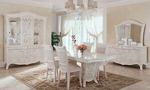 ... Exklusives Wohnzimmer Esszimmer Komplett  Perlmutt Hochglanz Italienische Moebel