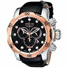 Invicta Men's 0360 Venom Chronograph Black Leather Watch