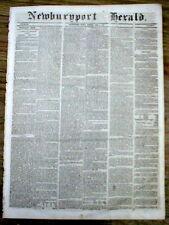 1848 newspaper JOHN JACOB ASTOR is DEAD - 1st multimillionaire in US history