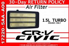 NEW Genuine 2016-2017 Honda Civic Air Filter 17220-5AA-A00 1.5L Turbo engine
