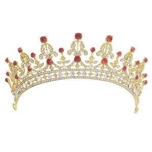 Wedding-Bridal-Crystal-Tiara-Crown-Princess-amp-Queen-Pageant-Prom-Tiara-HeadbaSN